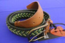 Strellson geflochtener Gürtel in grün, Metallschnalle
