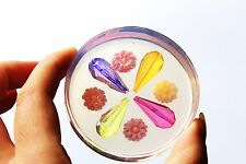 Clear-silicone pendants Molds,4p+4 flowers.Free USA shipping! (A64)
