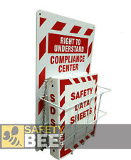 SDS (MSDS) Compliance Center - Right to Understand - Wall Mount - GHS Compliant