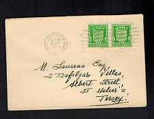 1942 Jersey Channel Islands Occupation Cover England Local Use to St Heliers 2