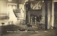 Canaan NH Inn Living Room Fireplaec c1915 Real Photo Postcard