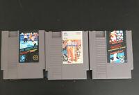 Nintendo NES Game Lot of 3 Mario, Pro Wrestling +++