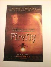 Firefly - New Series by Joss Whedon Vtg 2002 Tv Promo Print Ad (Mini Poster) Fox