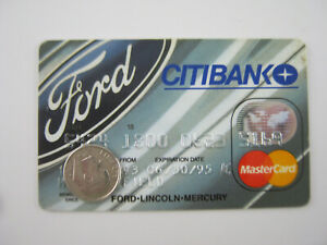 Vtg FORD CREDIT CARD Gas Oil Service Station 1993 Petroliana General Store CITI