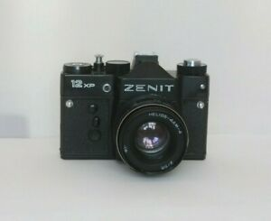 Russian USSR ZENIT 12 XP SLR Camera + HELIOS-44m-4 Lens, f2/58mm with Case
