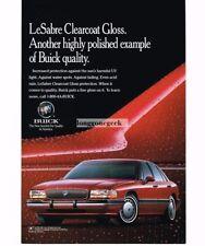 1993 Buick LE SABRE Torch Red 4-door Sedan Vtg Print Ad
