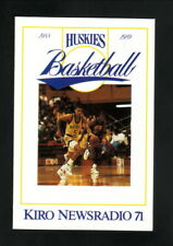 Washington Huskies--1988-89 Basketball Pocket Schedule--KIRO/Budweiser