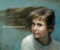 Art prints pure Russian young girl signed on canvas from original oil painting