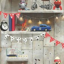 Arthouse da bambino LIFE Carta parati per legno motivo robot Dinosaur RAZZO