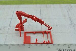 Roco HIAB Hydraulic Boom /  Crane for Trucks RED Building Kit 1:87 HO Scale