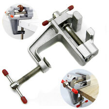 "3.5"" Mini Aluminum Small Jewelers Hobby Clamp On Table Bench Vise Tool Vice"