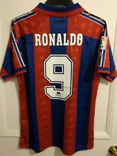 d6843cf43 Ronaldo Barcelona Shirt 1995-1997 Brazil Classic Retro Football Top Camiseta