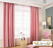 Quality Eyelet Top Thermal Curtain Linen 85% Blockout Curtains White Brown Grey