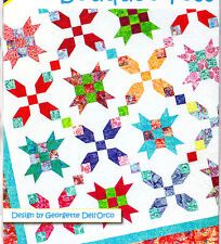 "Bouquet Toss - pieced quilt PATTERN for 2.5"" strips - Cozy Quilts - 6 sizes"