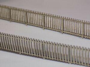 picket garden fence 112cms + 6 garden gates 00 gauge 1:76 fencing kit *3 for 2*