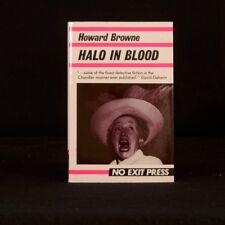 1988 Halo In Blood John Evans First Edition Howard Browne Dustwrapper Thriller