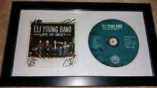 ELI YOUNG BAND Life At Best SIGNED AUTOGRAPHED FRAMED CD DISPLAY #A