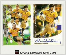 2003 Kryptyx Rugby Union Cards Wallaby Playmaker Signature Card--STEPHEN LARKHAM