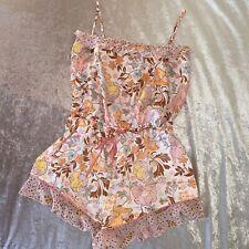 Victoria's Secret Satin Romper Playsuit Teddy Night Lounge Wear Frill Shorts XL