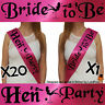 PINK BLACK HEN NIGHT PARTY DO BRIDE TO BE SASH GIRLS NIGHT ACCESSORIES NBC