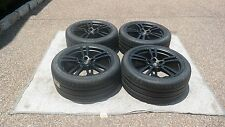 "PORSCHE CAYENNE 958 OEM 21"" TURBO II STAIN BLACK WHEELS/TIRES/TPMS & CAPS SET"