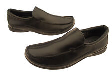 Deer Stag Carrera Men's Black Slip-On Loafers Cushioned Footbed Size 10 Wide
