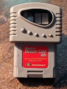 Nintendo 64 N64 Massive Memory Card by Performance 32x PARTS OR REPAIR