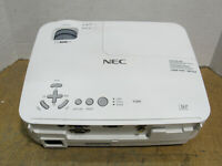 NEC V260 DLP SVGA Projector 2600 Lumens 336 Lamp Hours w/ No Remote Tested/Works