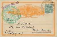 """BRAZIL 1935 """"FEIRA DE AMOSTRAS"""" rare Special Event Postmark on superb uprated pc"""