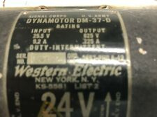 SIGNAL CORPS Dynamotor    DM-37D     NOS