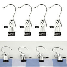1/5pcs Stainless Steel Single Hook Clip Pants Hanger Acces Home Supplies