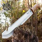 Raptor Survival Machete Knife Heavy duty Full Tang with Belt Sheath, Sawback