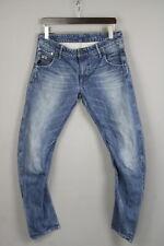 G-star Raw Arc 3D Slim Uomo W33/L32 Contorto Sfumato Effetto Zip Fly Jeans