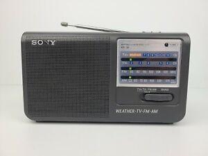 Vintage Sony ICF-36 Weather/TV/FM/AM 4 Band Portable Radio