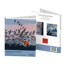 Sunset & Harvest Moon by Robert Gillmor Rectangle Notecard Wallet
