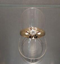 Ring mit Brillant 0,25 ct. 14 K/585er Gelbgold Gr. 60 -sehr hübsch-