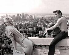 Elvis Presley Shirtless with Marilyn Monroe Balcony BW 10x8 Photo