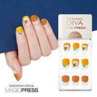 [DASHING DIVA] Magic Press Gel Nail Art Manicure 30 pcs ORANGE MEOW (SHORT)