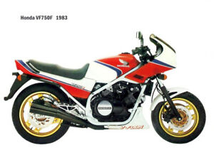 Motorcycle Canvas Picture Honda VF750F 1983 Canvas 16x12 inch