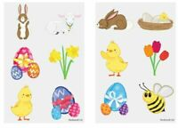 24 x EASTER Temporary Tattoos Kids Easter Egg Hunt Girls Party Bag Filler Toy