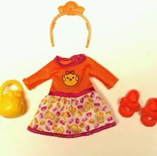 Barbie Chelsea Doll Clothes Yellow Chick Easter Dress Shoes Basket headband New