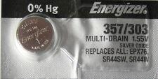 1 Energizer 357 303 A76 SR44SW AG13 LR44 D357H 228 J EPX76 Battery