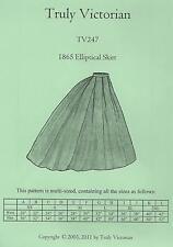 Schnittmuster Truly Victorian TV 247: 1865 Elliptical Skirt