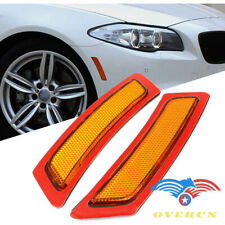 For 2011-16 BMW F-10 5-Series Amber Bumper Side Marker Deflector Reflector Lamp