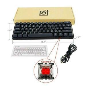 Mechanical Keyboard Gk61 Gaming Backlit Usb Wired Keys Rgb Switch Key Led Yellow