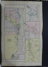 Maine, Antique Map, 1903 City of Bath NOT A REPRODUCTION J20#16