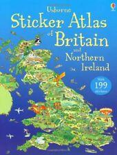 (Good)-Usborne Sticker Atlas of Britain and Northern Ireland (Usborne Sticker At