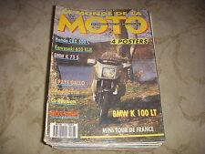 LE MONDE DE LA MOTO 148 06.1987 KAWASAKI 600 KLR BMW K 75 S BMW K 100 LT
