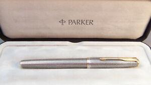 Parker Sonnet Rollerball Pen in Sterling Silver Ciselé Finish w/ Gold Trim
