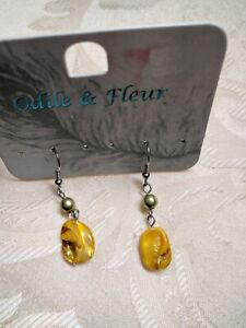 Earrings by Odile and Fleur Yellow Stone